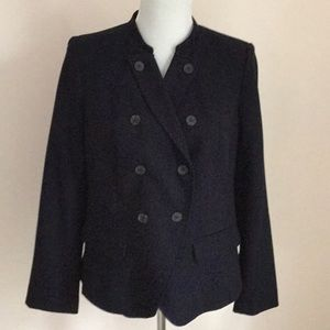 Twill military jacket in navy - super sharp
